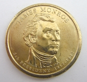 2008 James Monroe Presidential Golden Dollar