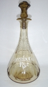 Phoenix Club Rye Amber Back Bar Bottle Decanter