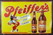 Pfeiffer's Brewing Co. Beer sign. Fifers for Flavor
