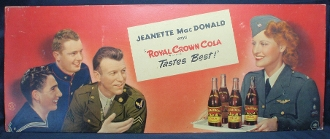 Royal Crown Soda Features 3 Soldiers, Actress Jeanette MacDonod