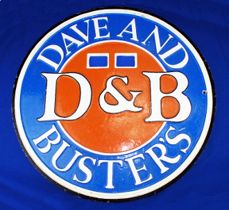 Dave and Busters Shuffle Board Sign D&B