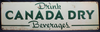 Canada Dry Beverages Tin Sign