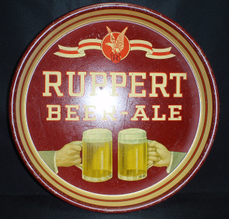 Ruppert Beer-Ale 1940s Tray