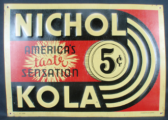 Nichol Kola Soda Advertising Sign