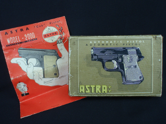 Astra Cub 2000 .22 Short Automatic Pistol 2-Piece Box and Manual