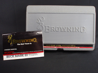 Browning Buck Mark .22 Semi-Auto Pistol Case Box with Manual