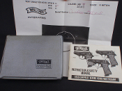 Walther PPK 380 Pistol Case Box, Manual and Test Target