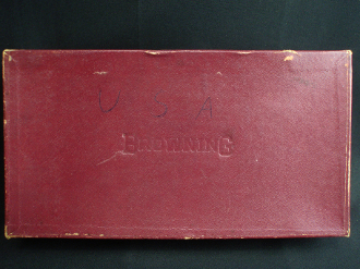 Browning Burgundy Hinged Cardboard Box
