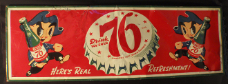Drink Ice Cold 76 Americas Soft Drink Favorite Sign