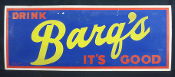 Barq's It's Good Cardboard Advertising Root Beer Cola Sign