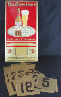 Anheuser Busch Budweiser Beer Preferred Everywhere Calendar Sign