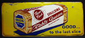 Spaulding Table Queen Enriched Bread 1956 Single Sided Tin Sign