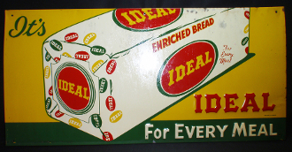 Ideal Enriched Bread For Every Meal Tin Sign