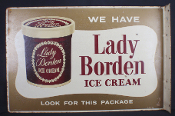 Lady Borden Ice Cream Flange Double Sided Sign