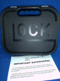 Glock G17 Factory Plastic Pistol Case Box and Manual