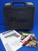 Sig Sauer Universal Factory Hard Plastic Pistol Case and Manual
