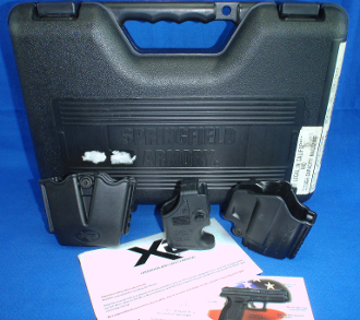 Springfield XD-9 Case, Manual, Holster, Mag Carrier, and Loader
