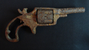 Unidentified Antique Dug-Up Spur Trigger Birdshead Pocket Pistol