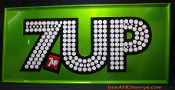"Seven-Up 7UP The Uncola 1976 ""Light of the Party"" Tin Sign"