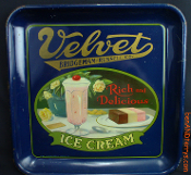 Velvet Rich and Delicious Ice Cream Serving Tray