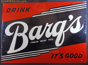 "Barq's ""It's Good"" Rootbeer Soda Cola Advertising Old Tin"