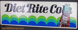 Diet Rite Cola Advertising Tin Soda Sign