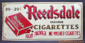 Reedsdale Cigarettes Tin Embossed Sign