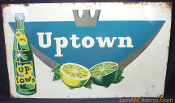 Uptown Soda Cola Embossed Sign