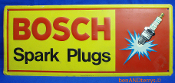 Bosch Spark Plugs Embossed Metal Tin Sign