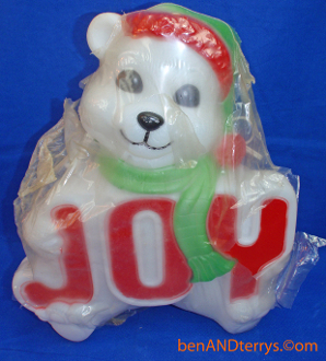 "Joy Bear 14"" Christmas Blow Mold in original package"