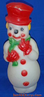 "Smiling Snowman 22"" Christmas Blow Mold"