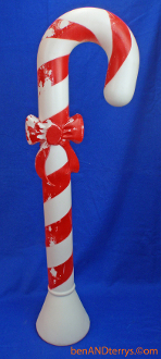 "Candy Cane with red bow 30"" Christmas Blow Mold"