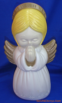 Praying Angel Christmas Blow Mold.
