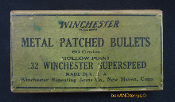.32 Win Superspeed metal patched bullets two piece empty box